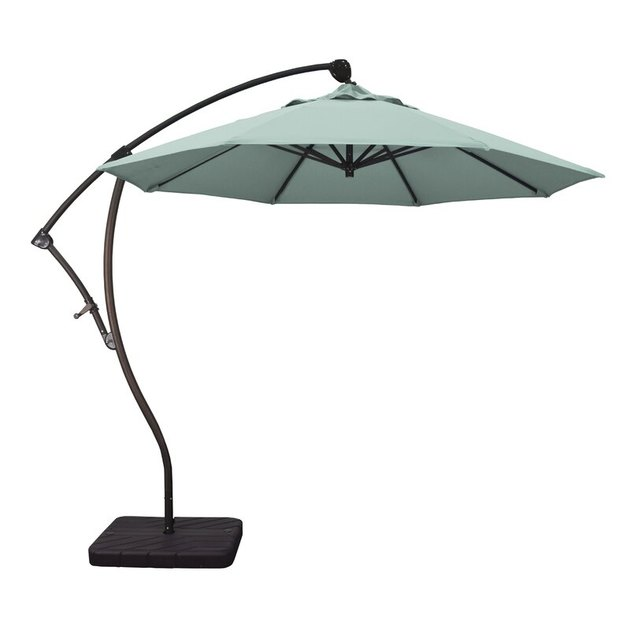 Mint green outdoor umbrella