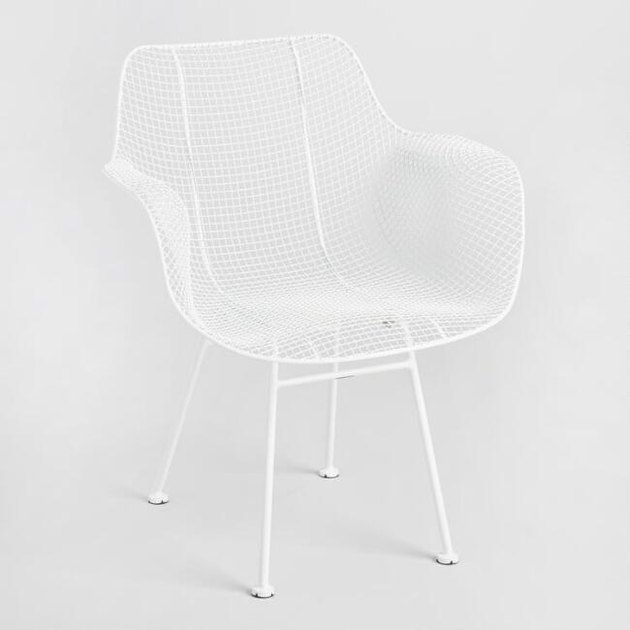 White all-wire armchair