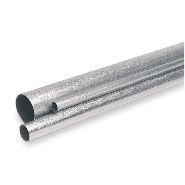 Metal electrical conduit.