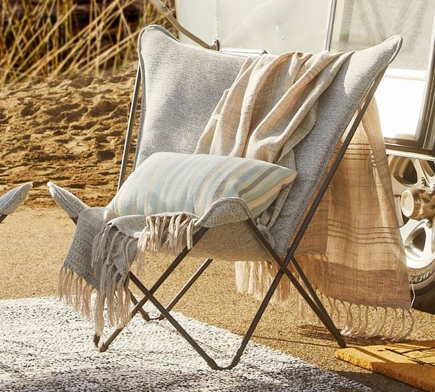 butterfly lounge chair in outdoor setting