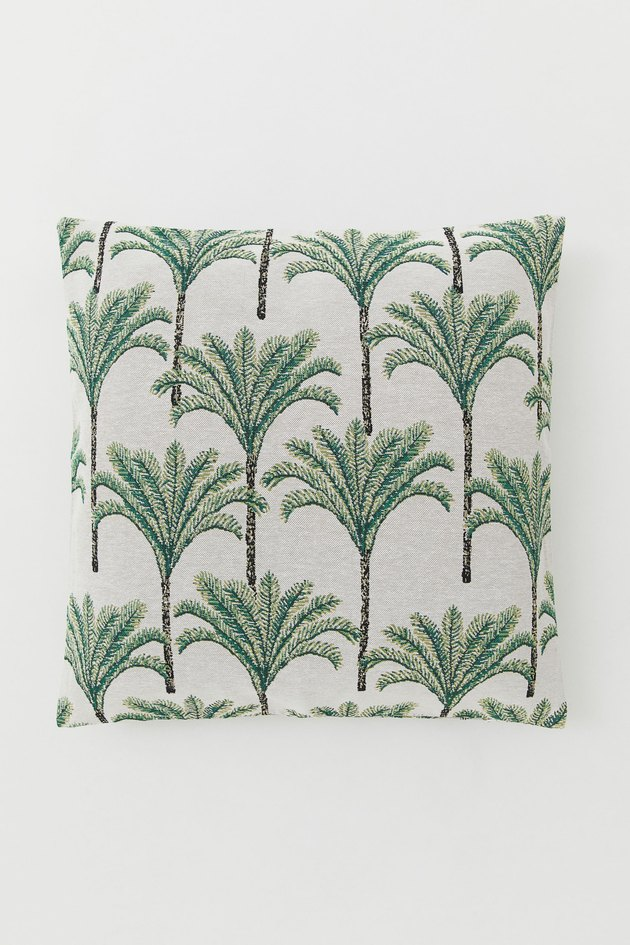 palm tree pattern cushion cover