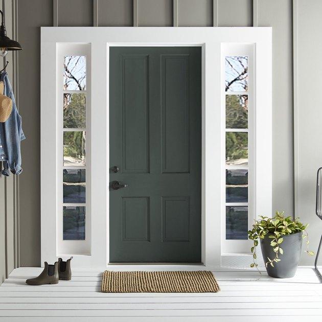 exterior green door