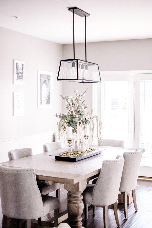 rustic rustic glam decor in dining room
