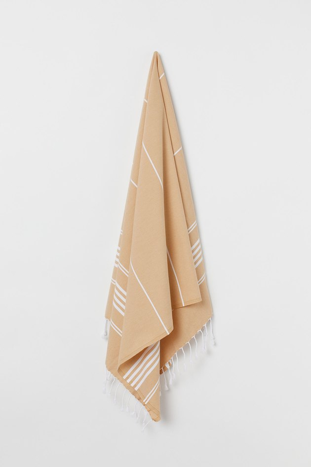 beige beach towel