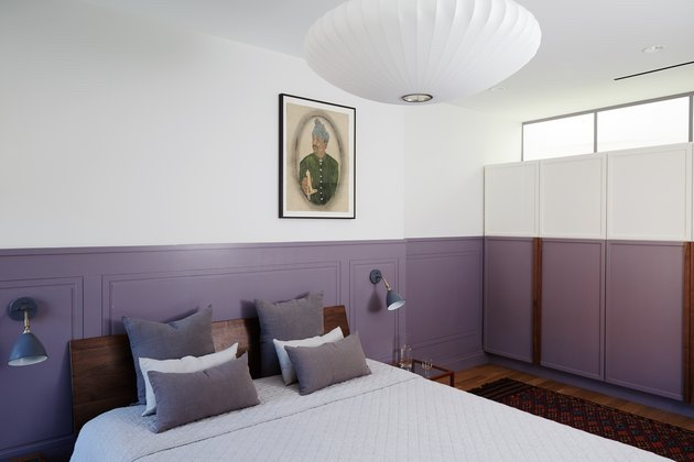 colors that goes with purple in bedroom