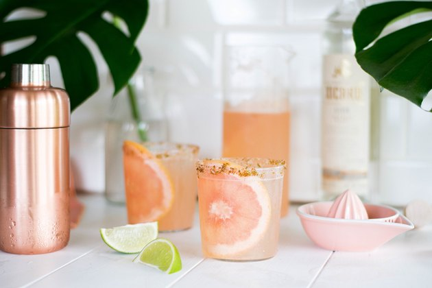 spicy mezcal paloma cocktail