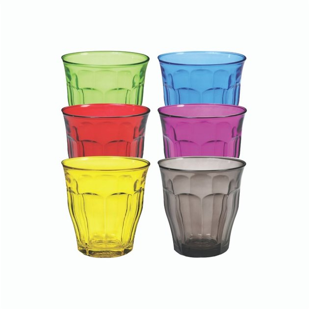 multicolored glassware