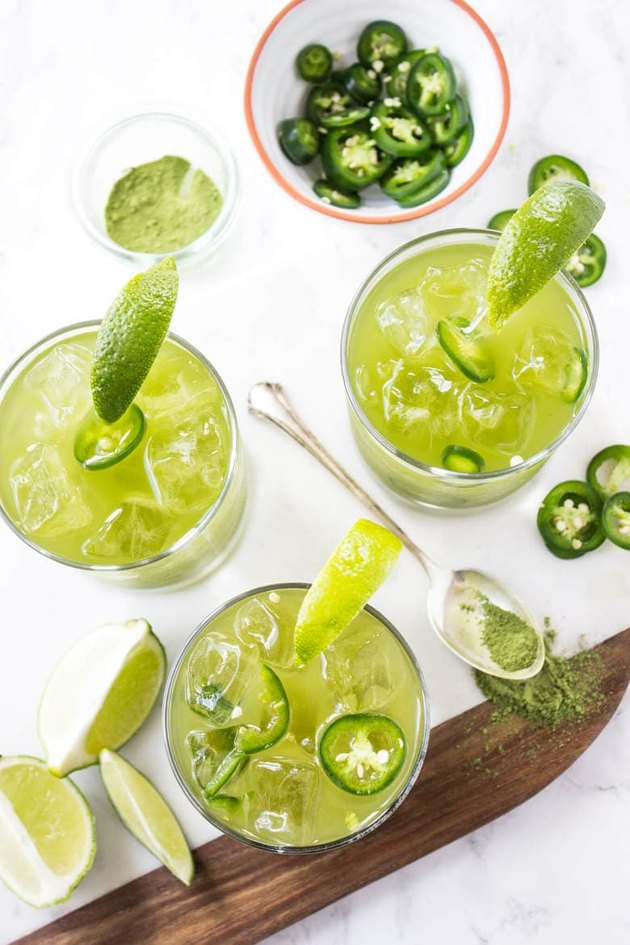 spicy matcha margarita