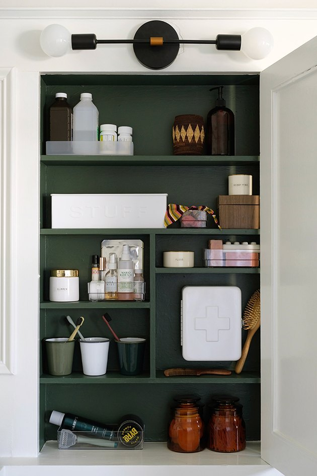 Medicine cabinet makeover DIY bathroom idea