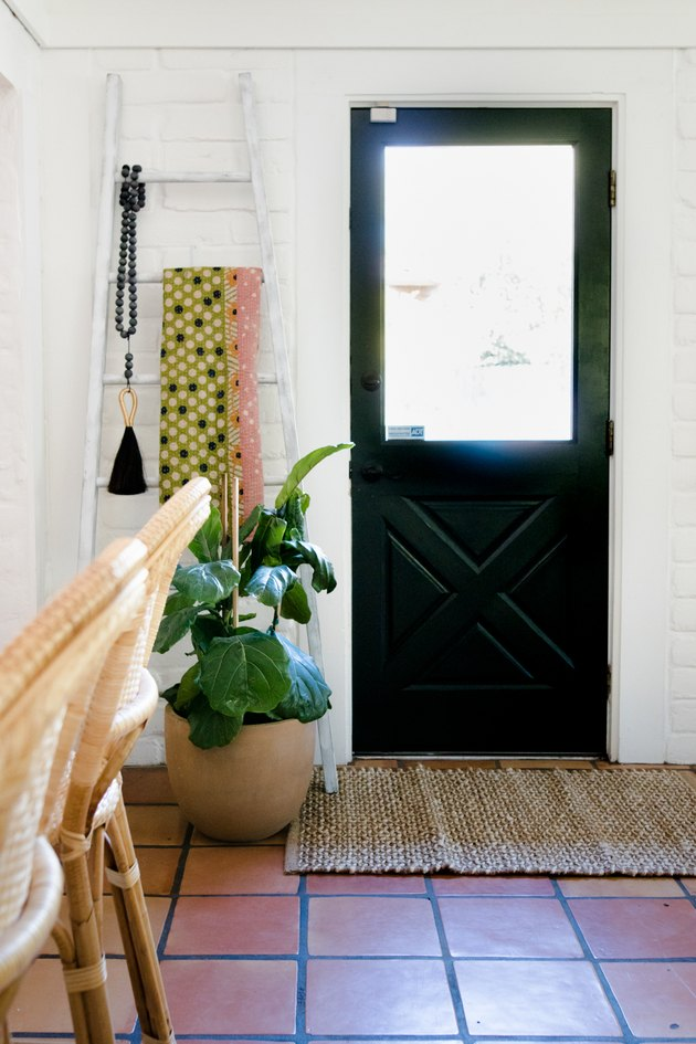 Entryway with plant