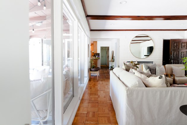 The living room windows.