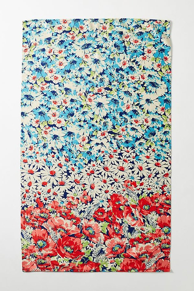 rug with floral pattern