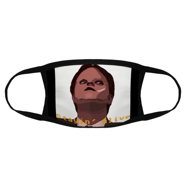 dwight the office face mask