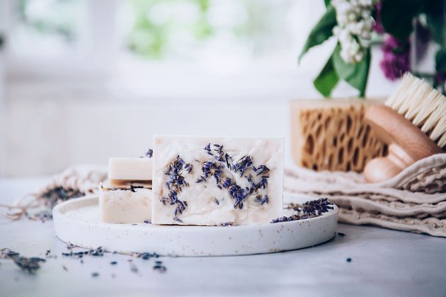 DIY goat's milk soap with lavender