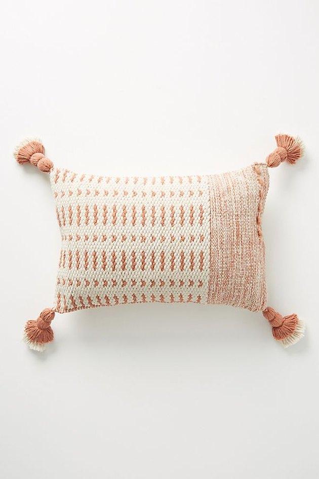 rectangular pillow with tassels