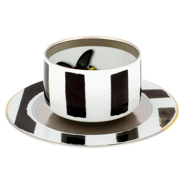 Christian Lacroix Graphic Stripes Tea Cup & Saucer