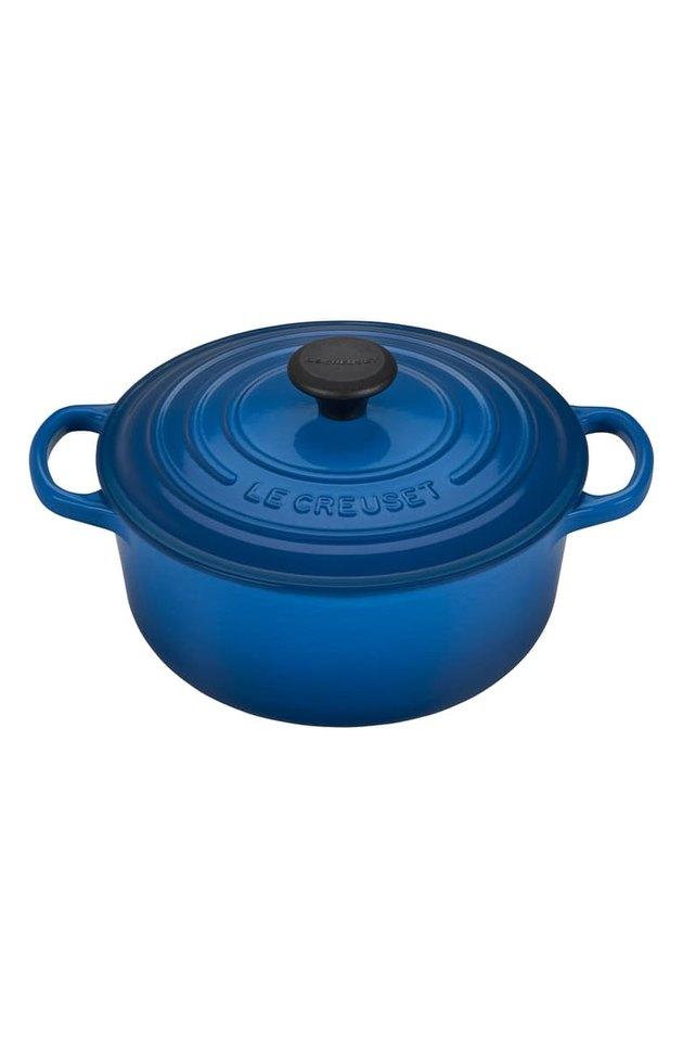 blue dutch oven
