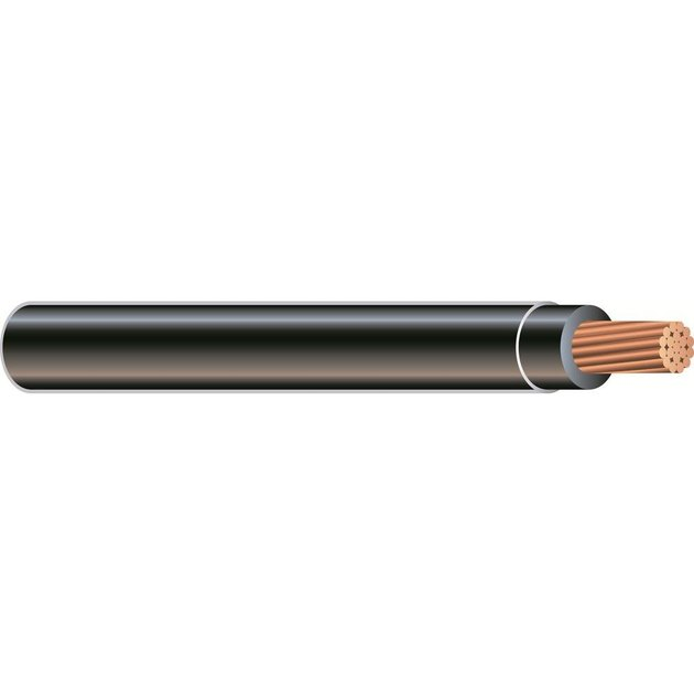 Insulated copper electrical wire.