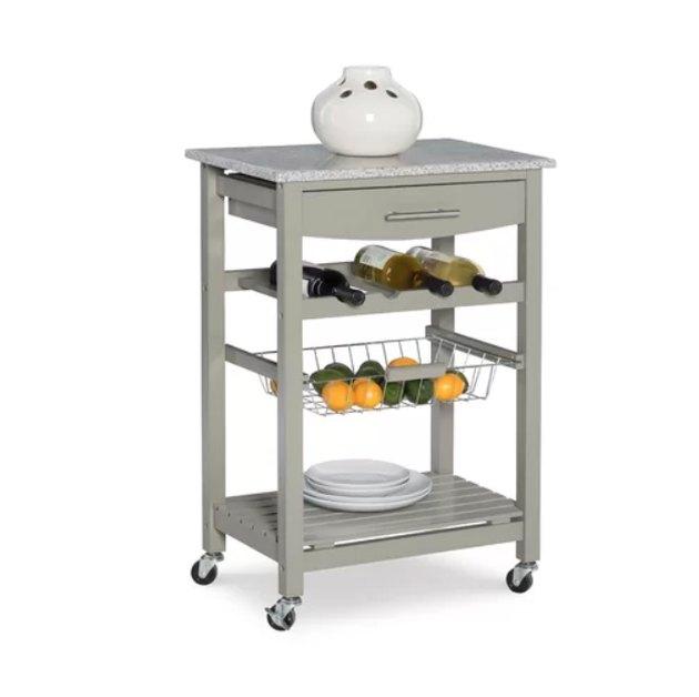 winston porter macy kitchen cart