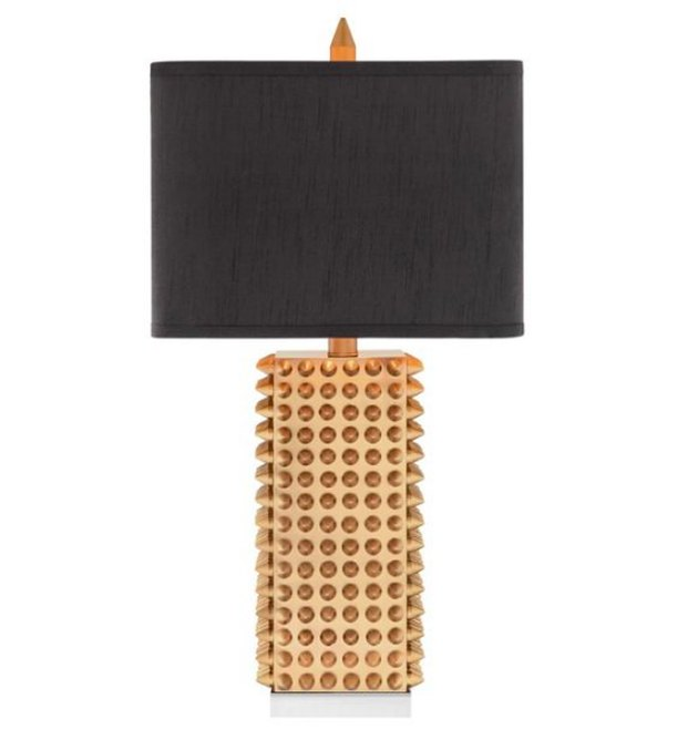 "All Modern 28.75"" Gold Spiked Table Lamp"