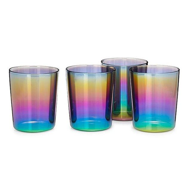 iridescent glass set