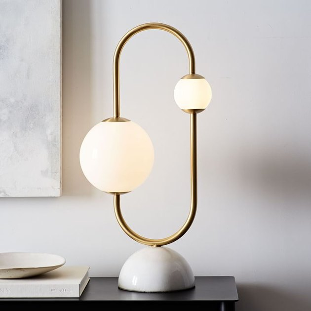 West Elm Framed Sphere Table Lamp