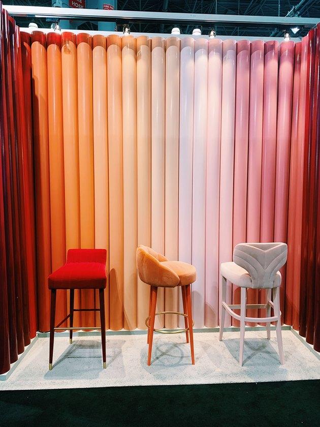 colorful barstools by Munna at ICFF 2019