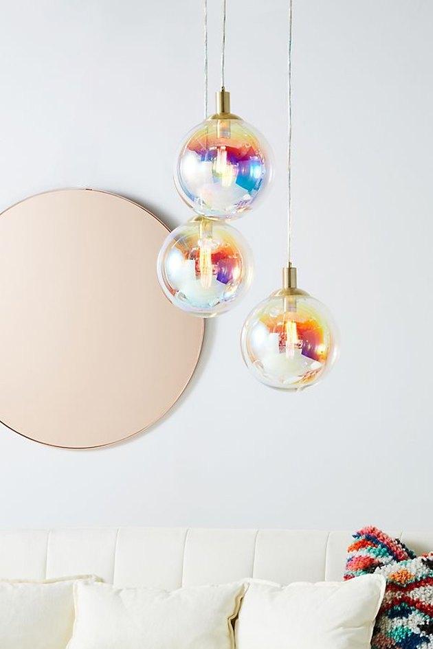 iridescent pendants