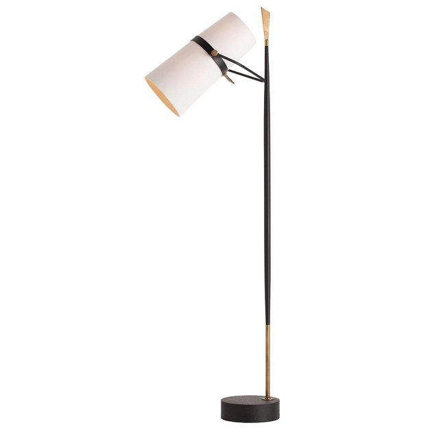 Contemporary floor lamp with black base