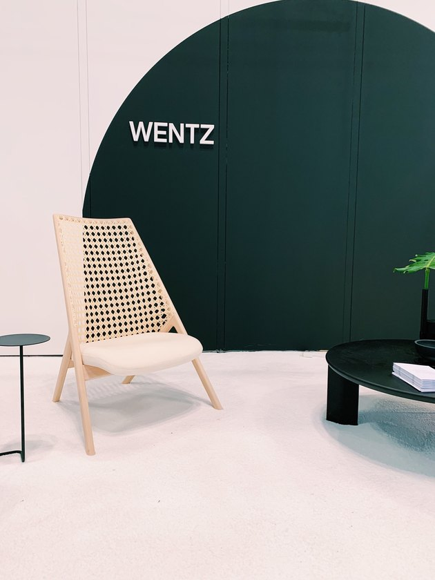 accent chair with cane back by Wentz at ICFF 2019