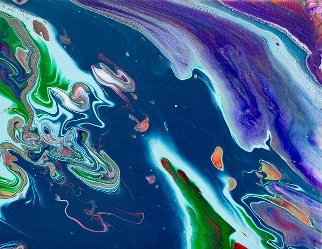 Acrylic pour on canvas.
