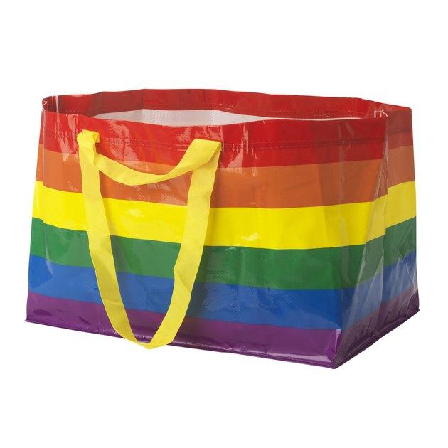 rainbow IKEA bag