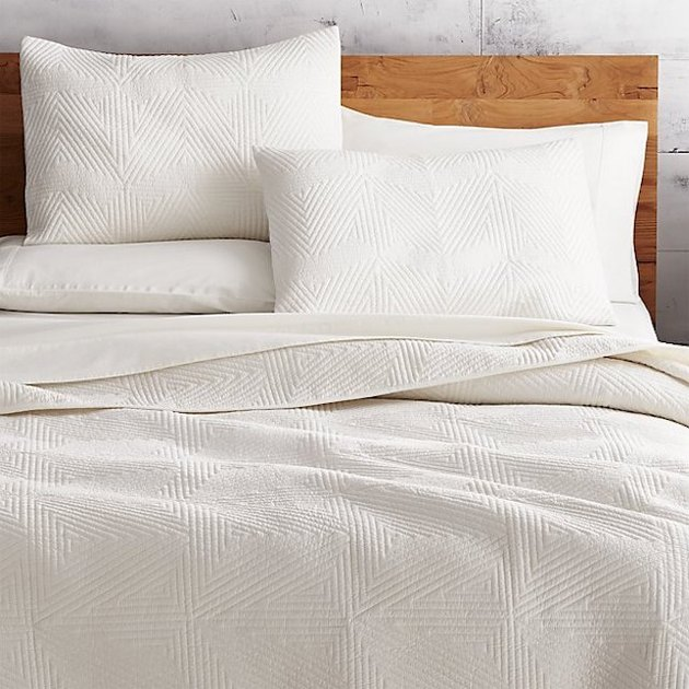 CB2 Triangle Ivory Coverlet (Full/Queen), $139