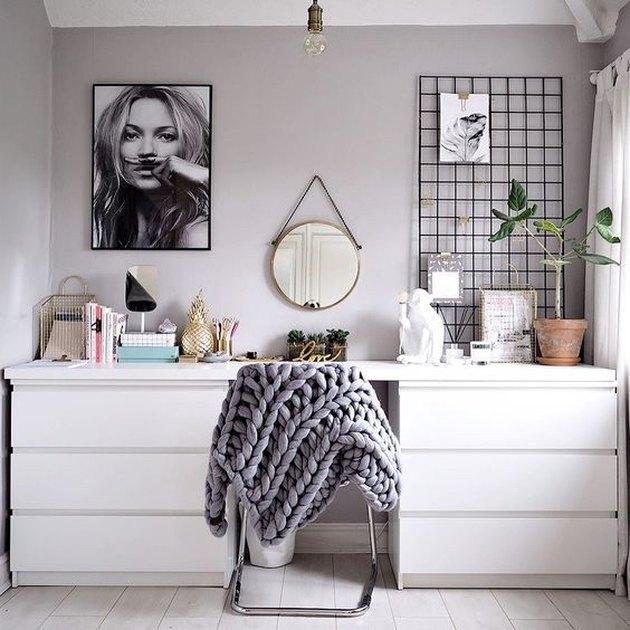 IKEA bedroom idea with office