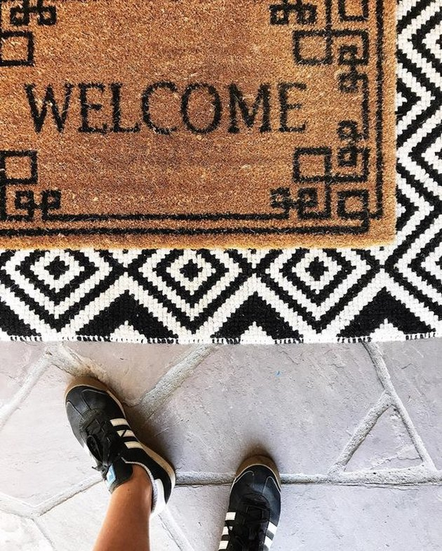 layered doormat