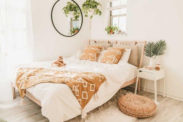 beachy bohemian IKEA bedroom idea