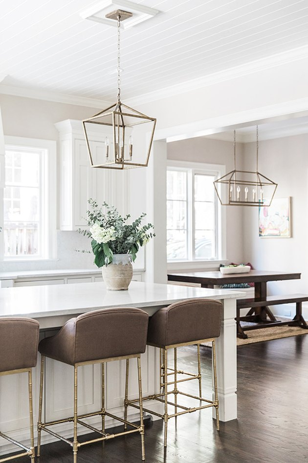 traditional kitchen lighting in white space