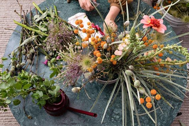 Arrangement floral avec Felisa Funes des fleurs