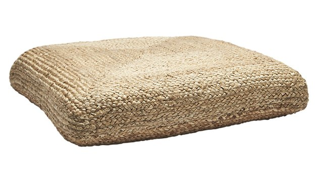 CB2 Braided Jute Floor Cushion, $79.95