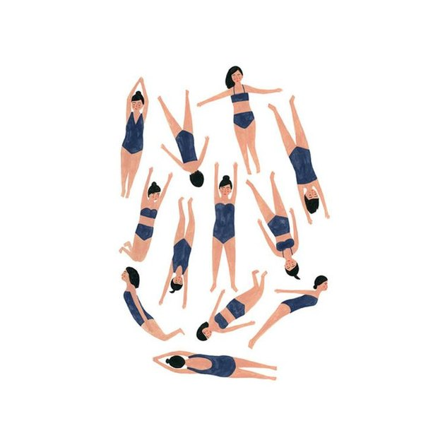 Kate Pugsley SWIMMERS Print