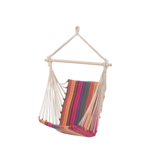 Pier 1 Multi-Colored Striped Hammock Chair