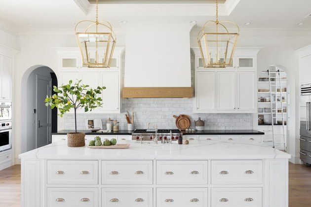 all white kitchen in traditional style