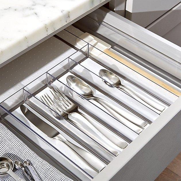 clear cutlery tray