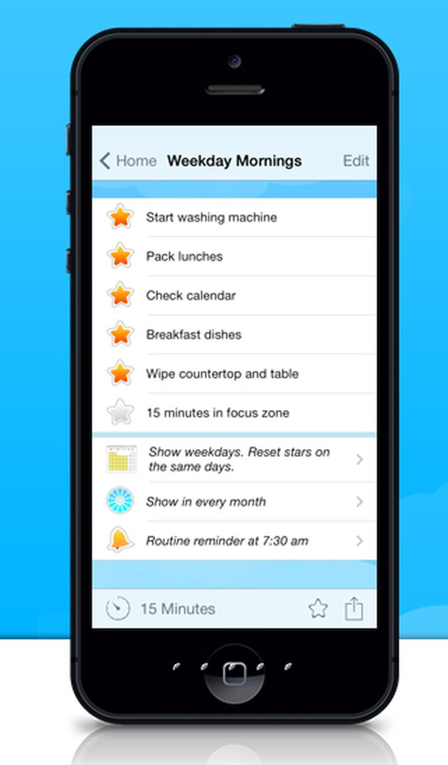 Home Routines app