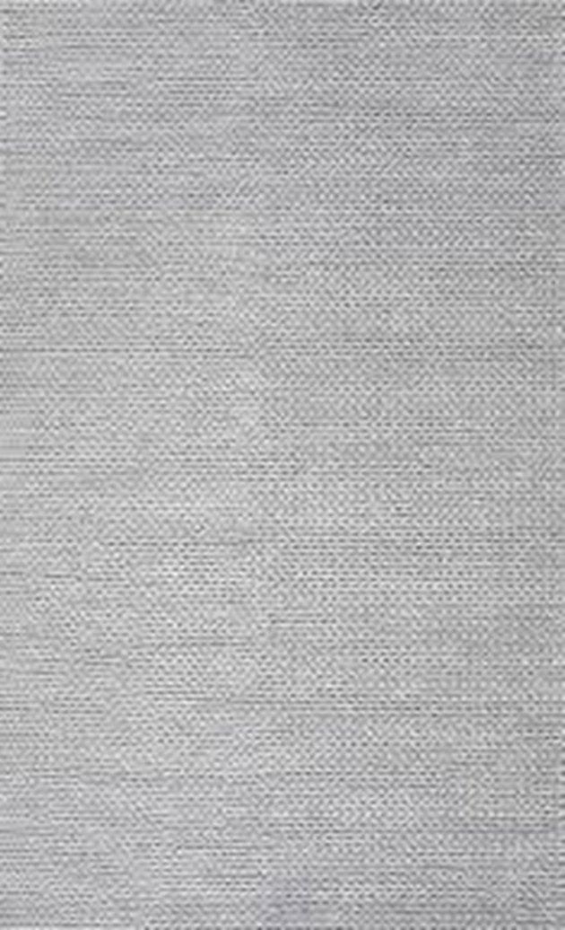 Plain gray area rug