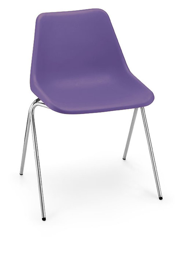 purple stackable chair from hille