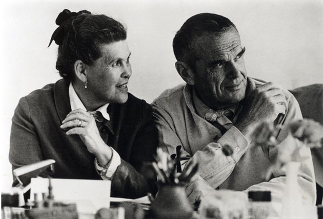 two figures, ray and and charles eames