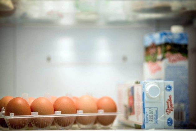 Eggs in refrigerator