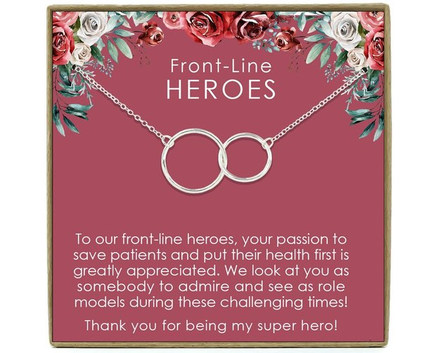 front-line heroes two circles necklace