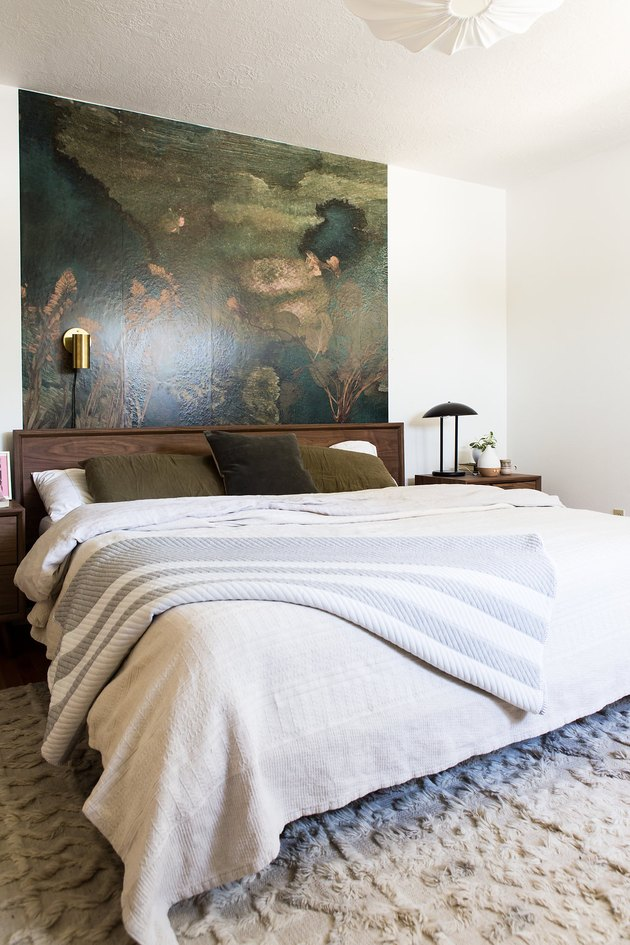 Kirsten Grove bedroom with bed and artwork on wall